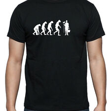 EVOLUTION OF JANITOR CLEANER TSHIRT T SHIRT XL XXL XXXLCARETAKER OVERALLS TROLLY