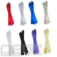 Stretch Gloves Long Satin Above Elbow Bridal Prom Wedding Formal