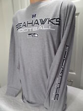 4815 MENS NFL Apparel SEATTLE SEAHAWKS Long Sleeve PLUS SIZE Jersey Shirt GRAY