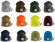 Carhartt A18 Watch Hat Knit Beanie Cap All Colors in stock One Size Made in USA