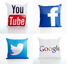 DOT COM CUSHION COVERS (Twitter, Facebook, YouTube, Google)