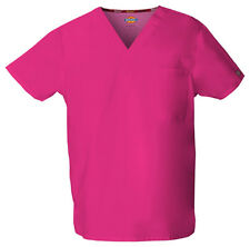 Scrubs Dickies EDS Unisex V-Neck Top 83706 Hot Pink HPKZ FREE SHIPPING!