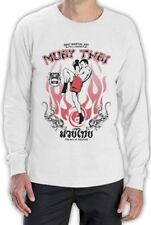 Muay Thai Full Contact Long Sleeve T-Shirt Gym Training Fighters MMA Boxing