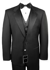 Sizes 34-64 Long. 6-Piece Complete Tuxedo Package with Vest & Bow-Tie