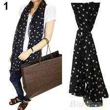 Fashion Womens Lady Polka Dot Print Chiffon Long Scarf Shawl Wraps Pashmina B94U