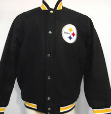 Pittsburgh Steelers Black Contender Wool Jacket Nwt Official Liscenced