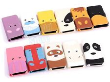 Cute 3D Animal PU Leather Flip Case Cover Stand for Apple iPhone 5 5G 5S + Film