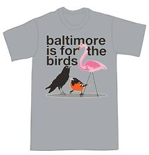 NEW Baltimore RAVENS ORIOLES T-Shirt Pink Flamingo s-xxxx Athletic Heather
