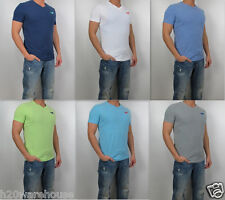 NWT HOLLISTER Men Muscle Slim Fit Dana Point V Neck T Shirt Tee By Abercrombi​e