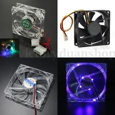 LED Sleeve Bearing Chassis Case Fan For Computer PC Host CPU Cooling Cooler XDHK