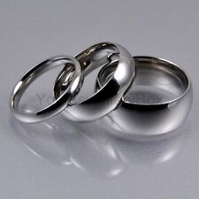 Mens Women 316L Stainless Steel Traditional Wedding Band Ring Silver 3,6,8mm