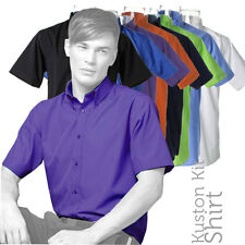 Kustom Kit - KK100 - Mens Workforce Poplin Short Sleeve Shirt (6 Cols)