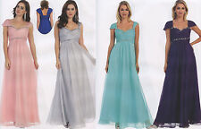 6 COLORS FORMAL OCCASION LOVELY MOTHER OF BRIDE / GROOM DRESS EVENING  6- 20