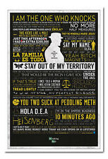 Framed Breaking Bad Typographic Poster Ready To Hang - Choice Of Frame Colours