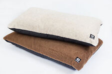 Dog Cream / Brown Fleece covered Mattress Pet Bed complete  ** MADE IN UK **