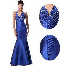Long Halter Evening Gown Bridesmaid Dresses Prom Dress Formal Party Ball Gowns