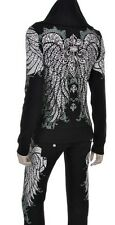 Black Fleur De Lis Stones Tattoo Track Suit Hoodie Shirt Jacket Pants S M L XL