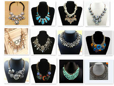 2014 Damen Frauen Statement Halskette Collier Kette Strass Blogger Necklace