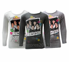 One Direction Top T-Shirts Kids Girls Full Sleeve 1d Age 7-13 year New Red Black