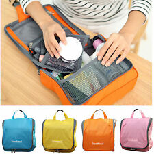 Travel Cosmetic Case Toiletry Makeup Bag Zipper Organizer Pouch Hanging Case