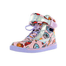 IRON FIST LADIES GLAMOUR GUTS SNEAKER TRAINERS HI-TOPS PINK (R4A)