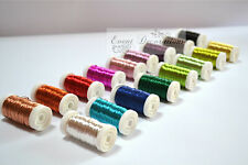 BULK OASIS METALLIC COLOUR WIRE ON A REEL - FLORISTRY OR CRAFTS - MANY COLOURS!