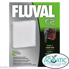 NEW FLUVAL C2 Hang On FILTER FOAM PAD Fluval Power Aquarium Filter Media 2 Pack