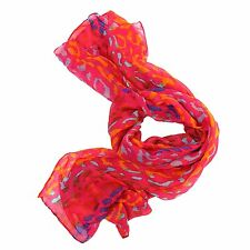 Ladies Womens Light Weight Summer Scarf Coloured Animal Print Design 2 Colours