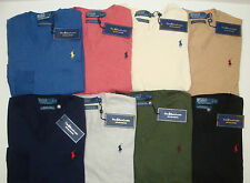 NWT $98 Polo Ralph Lauren THE PIMA SWEATER V Neck Mens Size S M L XL XXL NEW