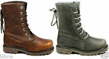 CATERPILLAR CAT BRUISER SCRUNCH LACE LEATHER WALKING ANKLE BOOTS SIZE 3 - 8 NEW