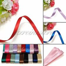 """Full Reel Mix Double Sided Faced Satin Ribbon Crafts 5mm 3mm 6mm 5/8"""" 3/8"""" 25mm"""