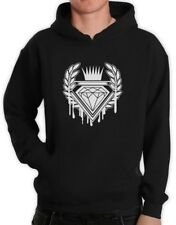 Dripping Diamond ROYAL LOGO Hoodie GRAPHIC SKATE URBAN INDIE Hip Hop DOPE FLEECE