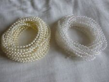 3MM Pearls x 5 metre- pearl beads On a Reel String - Ivory & Iridescent