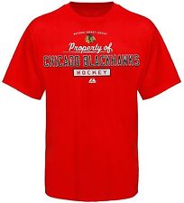Chicago Blackhawks Adult Big and Tall T-Shirt Majestic 1X 2XLT 3XLT 4XLT NHL New