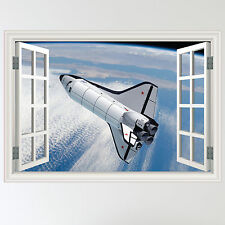 Full Colour Space Shuttle nasa earth Wall Sticker Art Decal mural transfer boys