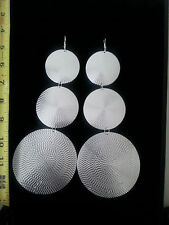 LONG/LARGE, DROP/DANGLE, SILVER TONE TIERED, GRADUATED, MEDALLION/ DISC EARRINGS