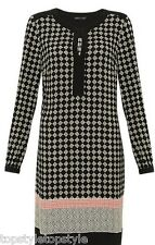 NEW MARKS AND SPENCER M&S COLLECTION MULTI DIAMOND  PRINT TUNIC DRESS RTL £45.00