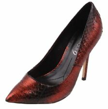 Boutique 9 by Nine West Sally Womens Dark Red/Black Leather High Heel Shoes