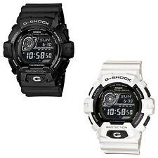 Casio G-Shock Black or White Gents Digital Sports Watch Resin Case and Wristband