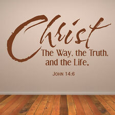 Christ The Way, The Truth, And The Life Wall Sticker Religious Wall Decal Art