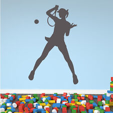 Female Tennis Player Wall Sticker Sport Wall Decal Art
