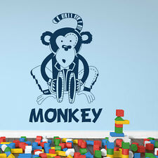 Cartoon Monkey Wall Sticker Children's Wall Decal Art