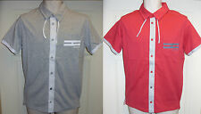 Mens HENLEYS CHASTON Polo Shirt Grey Marl/White & Crimson Red/Grey, Chest Pocket