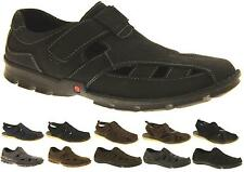 Mens LEATHER SHORESIDE Walking Outdoor Sports Casual Open Holiday Summer Sandals