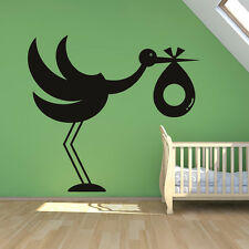 Baby Stork Wall Sticker Baby Wall Decal Art