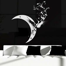 Floral Moon Bird Wall Sticker Bird Wall Decal Art