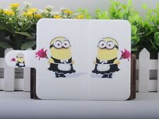 Colorful Funny Minions Despicable me PU LEATHER FLIP Case COVER for Samsung 23