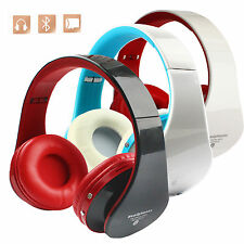 Foldable Wireless Bluetooth 2 CH Stereo Headset Headphone For PC iPhone Laptop