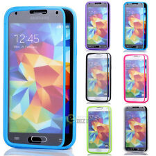 For Samsung Galaxy S5 i9600 G900 TPU Wrap Up Phone Case Cover with Built In Film