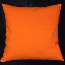 la02a Bright Orange High Quality Cotton Canvas Fabric Cushion/Pillow Cover Size